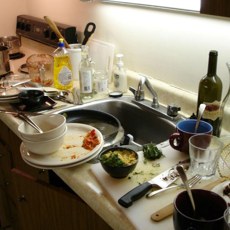 ¡Fuera de la cocina!