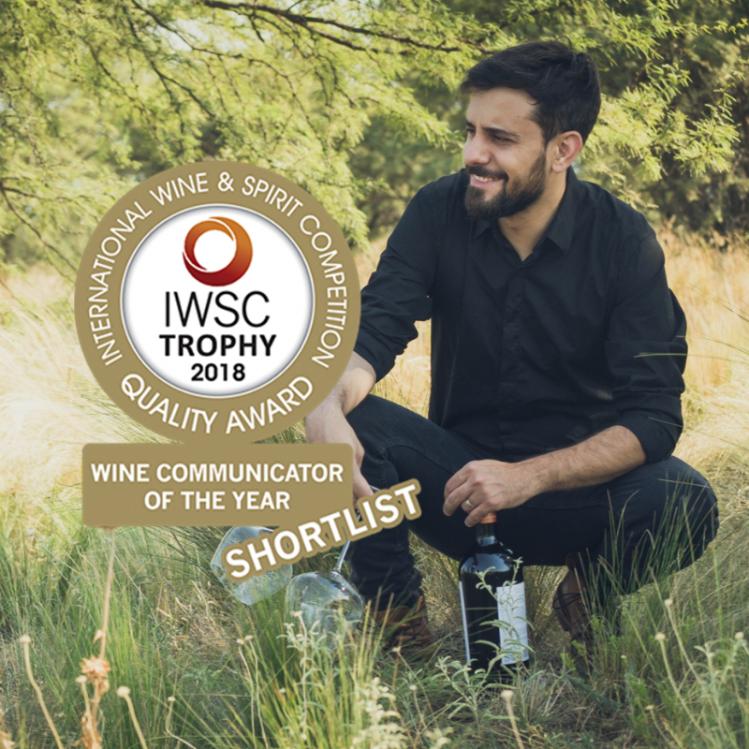 Nominado como Wine Communicator of the Year, ¡una vez más!